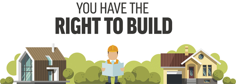 Right to build banner