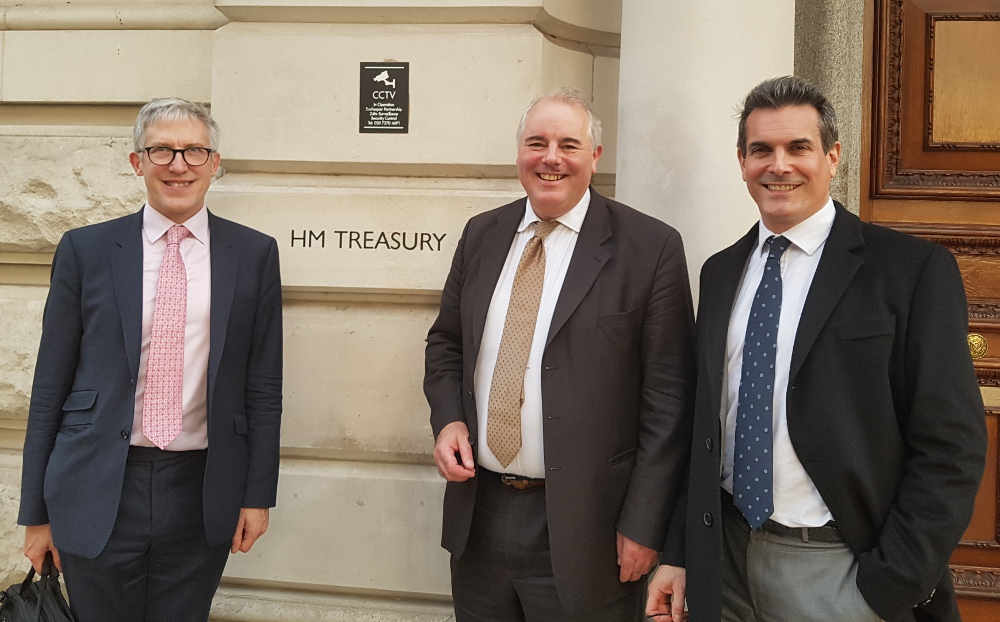 Andrew, Richard & Michael at treasury