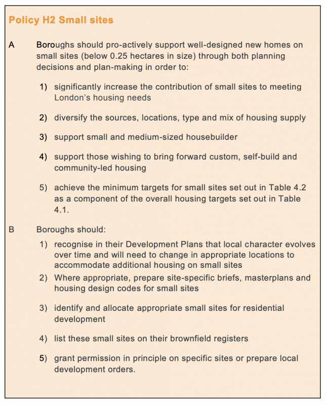 Policy H2 London Plan 2021