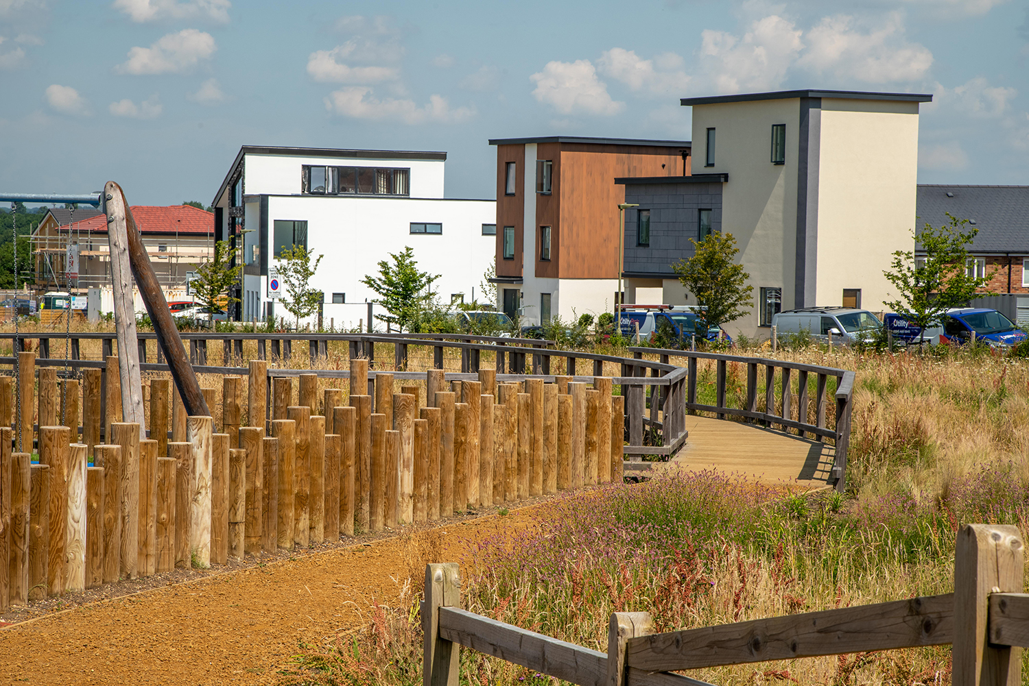 Self-build homes at Graven Hill